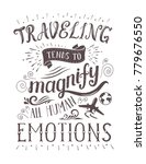 travel. vector hand drawn... | Shutterstock . vector #779676550