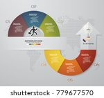 abstract 6 steps infographis... | Shutterstock .eps vector #779677570