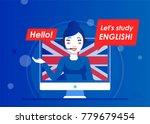the operator or the teacher of... | Shutterstock .eps vector #779679454