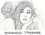 series of women drawn in... | Shutterstock . vector #779684488