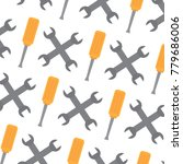 seamless pattern wrench and... | Shutterstock .eps vector #779686006