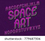 space art typeface. retro font. ... | Shutterstock .eps vector #779687506