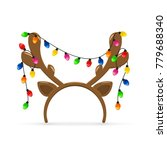 christmas mask with brown deer... | Shutterstock . vector #779688340
