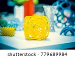 abstract object of a yellow... | Shutterstock . vector #779689984