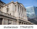 London, United Kingdom - October 30th, 2017:- The bank of England Central bank of the UK located on Threadneedle Street - stock photo