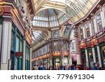 London, United Kingdom - October 30th, 2017:- Leadenhall Market in the City of London - stock photo