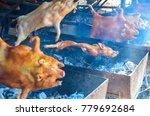 barbecued suckling pig ... | Shutterstock . vector #779692684