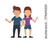 couple faceless avatar cartoon   Shutterstock .eps vector #779695354
