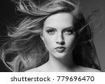 amazing woman portrait.... | Shutterstock . vector #779696470