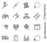 chimney sweeper icons. gray... | Shutterstock .eps vector #779697073