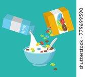 vector illustration. cereal... | Shutterstock .eps vector #779699590