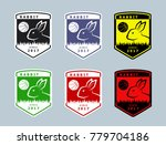 set of basketball team club... | Shutterstock .eps vector #779704186