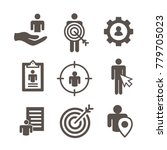 target market icons of buyer... | Shutterstock .eps vector #779705023