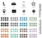 icon for visit card set art... | Shutterstock .eps vector #779706580