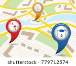 set of tourism services map... | Shutterstock .eps vector #779712574