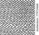 irregular black zig zag pattern.... | Shutterstock .eps vector #779714668