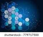 hi tech digital technology... | Shutterstock .eps vector #779717500