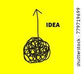 concept of idea of chaos.... | Shutterstock .eps vector #779719699