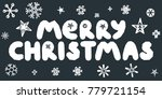 merry christmas caption with... | Shutterstock .eps vector #779721154