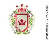 vintage heraldic insignia made... | Shutterstock .eps vector #779725264