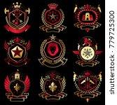vector classy heraldic coat of...   Shutterstock .eps vector #779725300