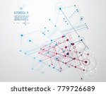 technical plan  abstract... | Shutterstock .eps vector #779726689