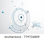 technical plan  abstract... | Shutterstock .eps vector #779726809
