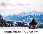 snowboarder looking at the... | Shutterstock . vector #779735794