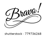 bravo sign. vector illustration.... | Shutterstock .eps vector #779736268