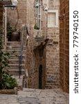 stone old city jaffa in tel aviv   Shutterstock . vector #779740150