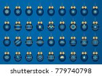 christmas and new year blue... | Shutterstock .eps vector #779740798