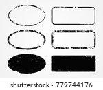 grunge post stamps.blank... | Shutterstock .eps vector #779744176