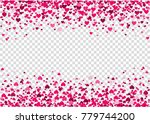 flying heart confetti ... | Shutterstock .eps vector #779744200