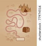 old style map of treasure in... | Shutterstock .eps vector #77974516