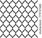 moroccan tiles design  seamless ... | Shutterstock .eps vector #779747680