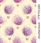 watercolor pattern with purple  ... | Shutterstock . vector #779751184