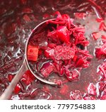 red traditional russian and... | Shutterstock . vector #779754883