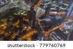 skyline with skyscrapers night... | Shutterstock . vector #779760769