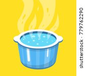 boiling water in pan. cooking... | Shutterstock .eps vector #779762290