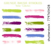 watercolor  ink or paint brush... | Shutterstock .eps vector #779765428