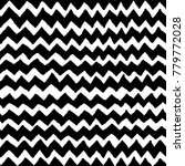 irregular black chevron pattern.... | Shutterstock .eps vector #779772028