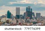madrid skyline at sunset... | Shutterstock . vector #779776399