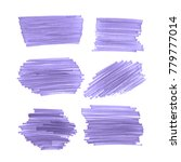 set of brush strokes with... | Shutterstock . vector #779777014