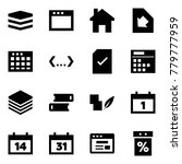 origami style icon set   data... | Shutterstock .eps vector #779777959