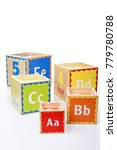Small photo of children ABC blocks