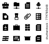 origami style icon set  ... | Shutterstock .eps vector #779785648