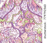 tracery seamless pattern.... | Shutterstock .eps vector #779792560