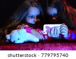 children with concerned faces... | Shutterstock . vector #779795740