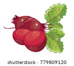 beet vector simple illustration | Shutterstock .eps vector #779809120