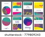 set of creative universal...   Shutterstock .eps vector #779809243
